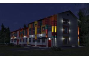 Архитектурная подсветка детского сада